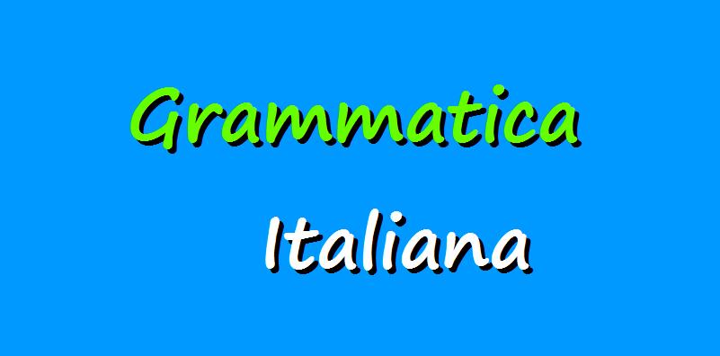 Italian grammar lessons
