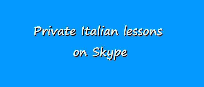 Italian lessons on Skype