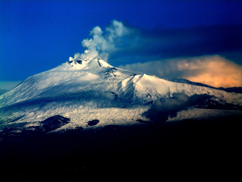 learn a new Italian word, volcano