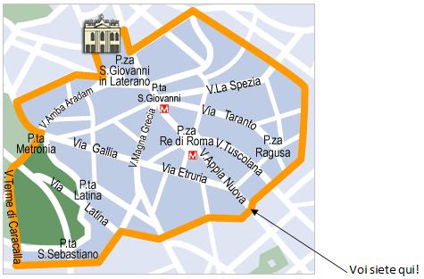 Esercizi di italiano: l'uso dell'imperativo per dare indicazioni stradali