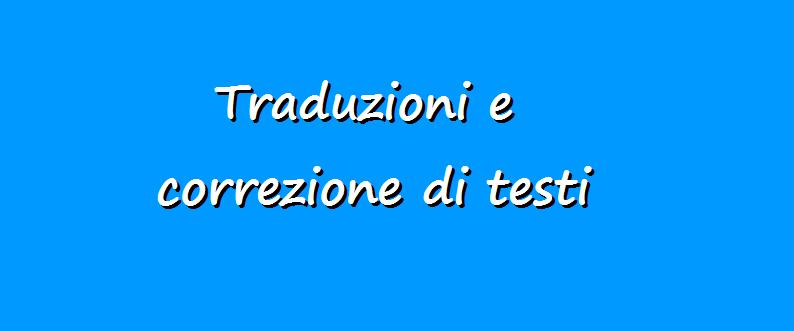 Traduzione di testi in italiano