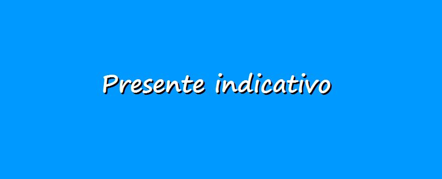 grammatica italiana, presente indicativo