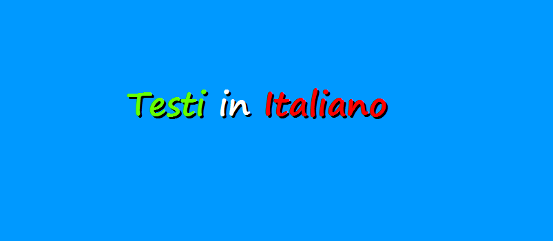 Elenco di testi in Italiano